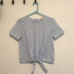 Madewell Gingham Top